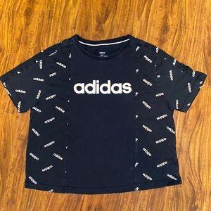 Adidas black crop top
